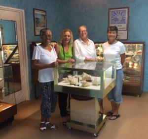 6. STX Seashell Society founders, from left, Zaraida Jacobs, Elizabeth Robb, Marcia Taylor and Sharon Grimes. (Photo by Elizabeth Robb)