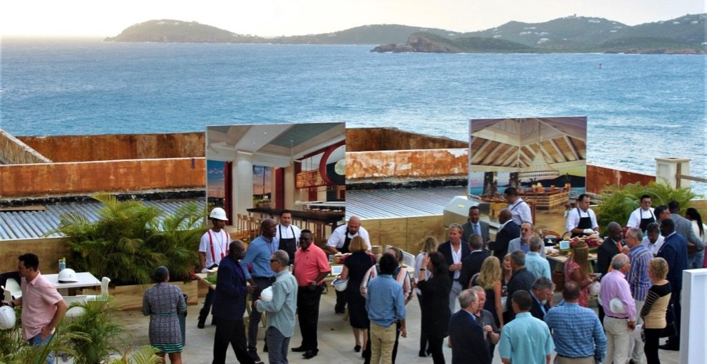 More than 100 guests gathered for a 'Taste of Frenchman's Reef,' which allowed them to enjoy the scenic views from a spacious deck. (Source photo by Bethaney Lee)