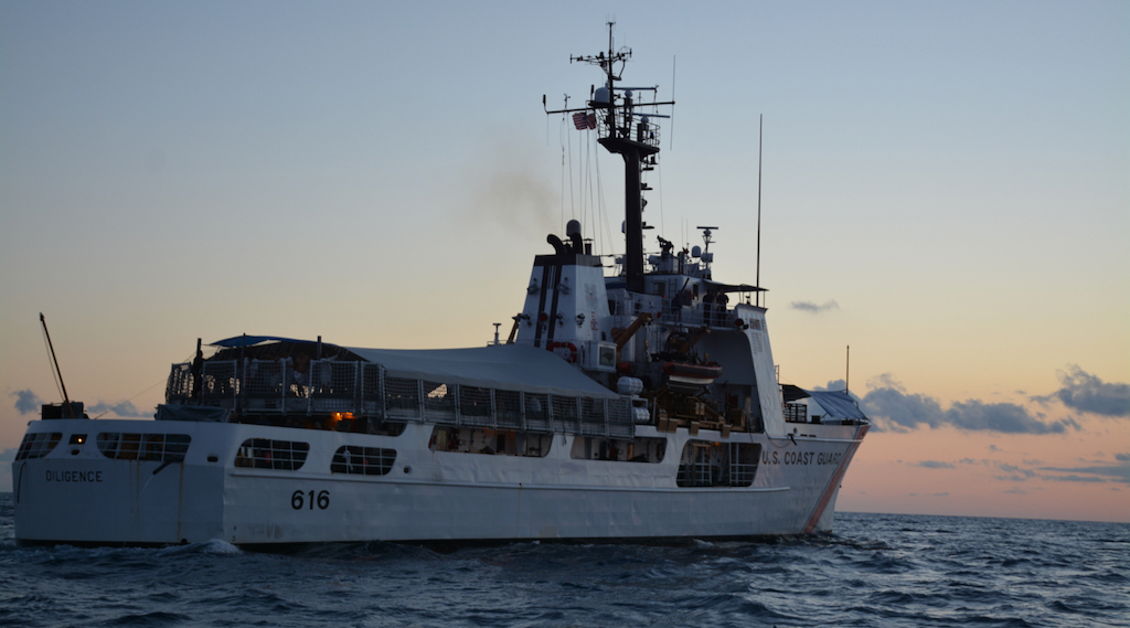 The Coast Guard Cutter Diligence intercepted a go-fast boat carrying five kilograms of cocaine. (U.S. Coast Guard photo by Petty Officer 1st Class Melissa Leake)