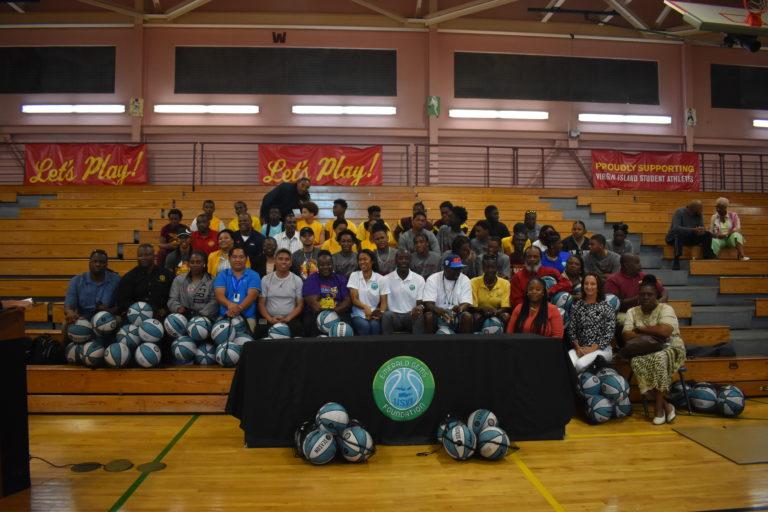 Emerald Gems Foundation Donates Basketballs to Public Schools