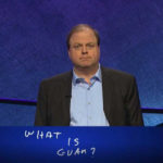 """Former champion Dennis Coffey reveals the wrong answer on """"Jeopardy!"""" The correct one was """"What is the Virgin Islands.) (Photo from WMTW-TV)"""