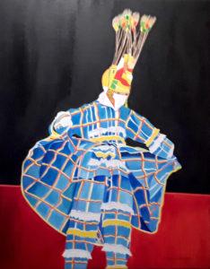 Moko Jumbie by Christa-Ann Davis Malloy (Source photo by Darshania Domingo)