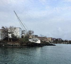 Sailboat on the rocks near Great Cruz Bay, St. John. (Source file photo)