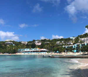 "Sunset Grille offers an idyllic Caribbean beach bar at Secret Harbor, St. Thomas, but it didn;t make the list of finalists for ""Best Beach Bar."" (Source photo by David MacVean)"