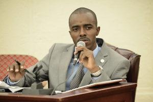 Sen. Javan James (File photo by Barry Leerdam for the V.I. Legislature)