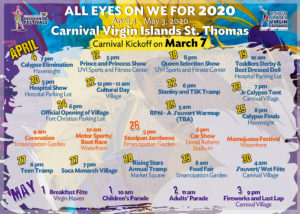 All Eyes on We for 2020 Carnival offers dates and locations for festivities. (Click on image for larger view.)