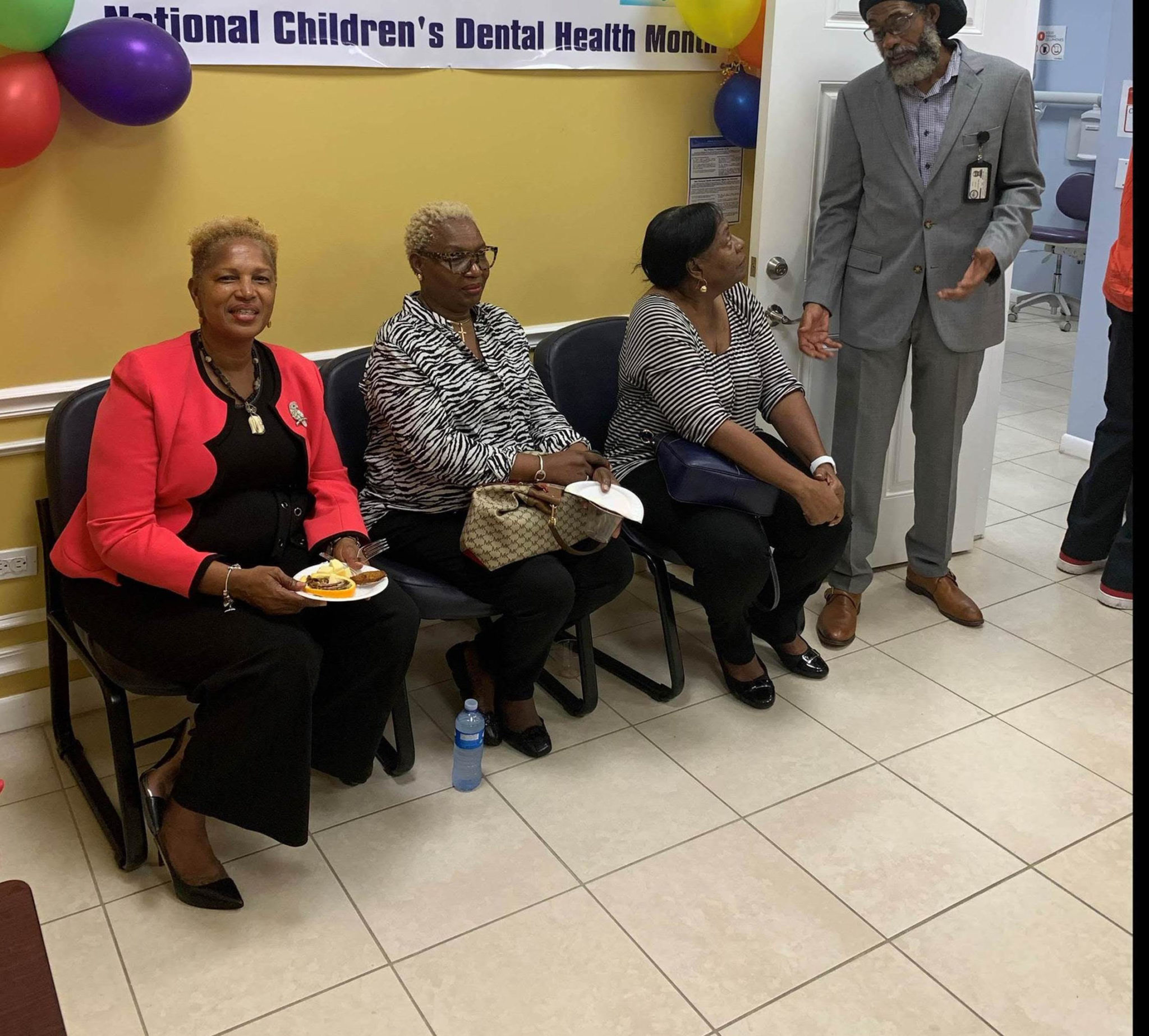 Frederiksted Health Care Executive Director Masserae Sprauve Webster and others attended the soft opening of the Estate Princesse dental clinic expansion. (Photo courtesy of Frederiksted Health Care)