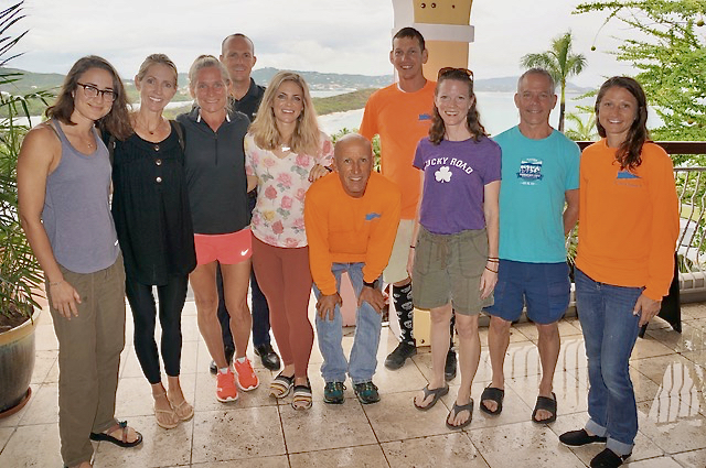 Runners and organizers for the Scenic 50, from left: Sissel Holloway, Megan Lambert, Kathleen Brownstone, William R. Bohlke, Jessica Carter, Michael Klein, Matthew Halk, Erin Williams, Jack, Willa and Bridget Klein. (Submitted photo)