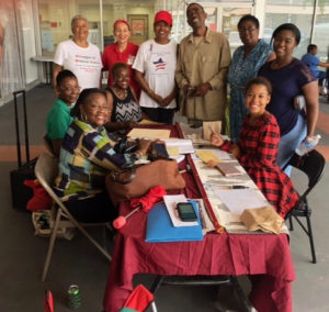 Members of the V.I. League of Women Voters register voters on St. Thomas. (Photo provided)