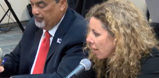 Wayne Biggs, the EDA's assistant chief executive officer and tax expert Erika Kellerhals of Kellerhals, Ferguson, Kroblin testify at Senate Wednesday. (V.I. Legislature photo)