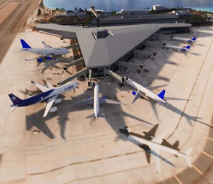 Airport STT Phase 2-4: The Port Authority estimates that it will take six to eight years to complete construction phases two through four on the Cyril E. King Airport. (Artist's rendering provided by VIPA)