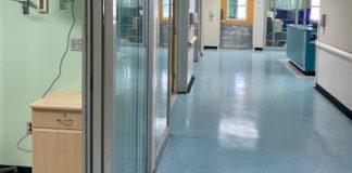 The hallway of JFL's new ICU. (Photo by JFL)