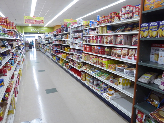 There was plenty of product available in the baking goods aisles at Food Town. (Source photo by Linda Morland)