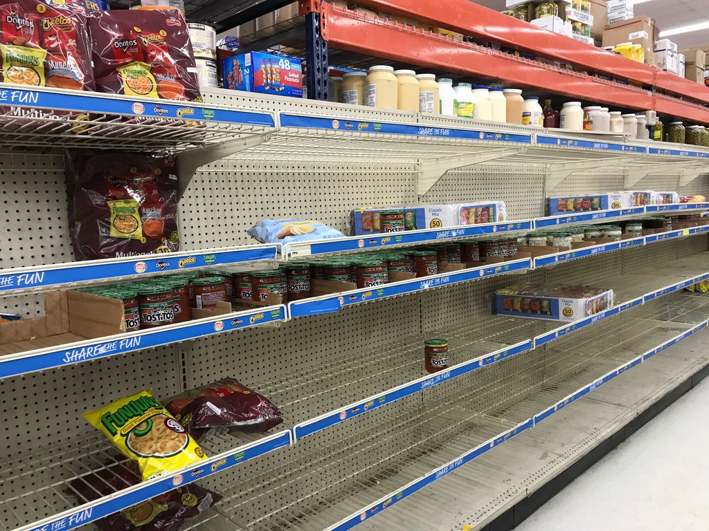 Snacks were in short supply at Plaza East. Source photo by Elisa McKay)