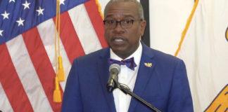 Gov. Albert Bryan Jr. declares Sunday, March 30, a day of prayer in the U.S. Virgin Islands. (Source photo by James Gardner)