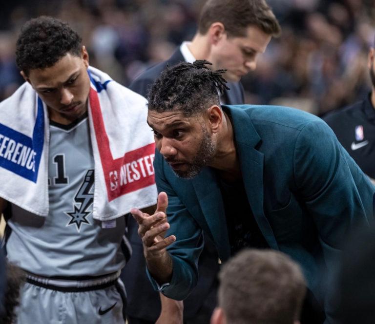 NBA Spurs Win as Tim Duncan Fills in as Head Coach