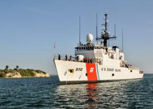U.S. Coast Guard Cutter Thetis was on hand to lend assistance. (U.S. Coast Guard photo)