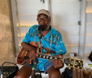 Llewellyn Westerman performs at the SCYC for sailors and landlubbers in 2019 at the St. Croix International Regatta, as is custom. (Source photo by Anne Salafia)