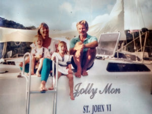 The Masterson family aboard their charter boat in the 1991. (Photo provided by the family)