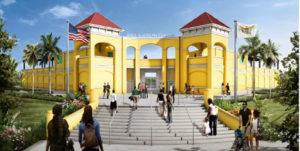 A rendering of how the Paul Joseph Stadium will look when finished. (Department of Public Works)