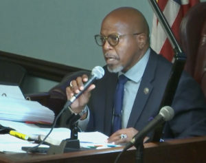 Senator Myron Jackson said he wanted to visit Lovango Cay. (Screen capture)