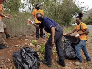 Virgin Islands Police help with the clean up effort. (Photo provided by Jody Olsen)