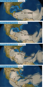 The Weather Channel offered this four-day map forecasting the Saharan Air Layer.