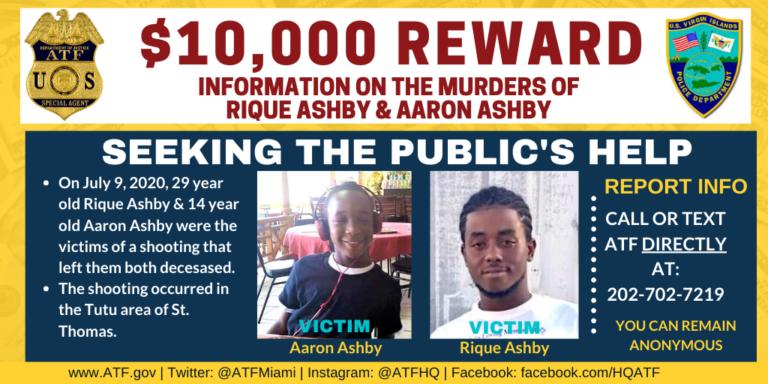 ATF Offering $10K Reward in Ashby Murders