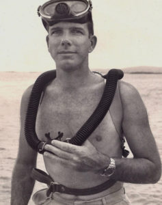 Jack Randall, a young man with scuba gear in 1963. (Photo from memorial page)