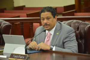 DPNR Commissioner Jean-Pierre Oriol (Photo by Barry Leerdam, V.I. Legislature)