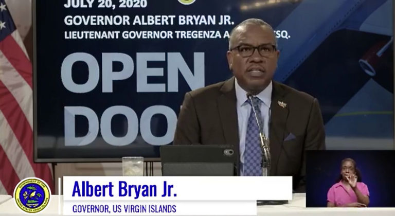 USVI in the 'Throes' of a Surge, Gov. Bryan Says