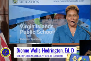 Education's Chief Operating Officer Dionne Wells-Hedrington highlights the main points of the new master plan. (Screen capture)