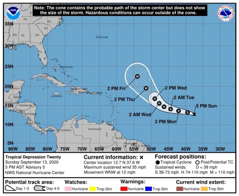 Growing Tropical Weather System Likely to Pass Well North of USVI