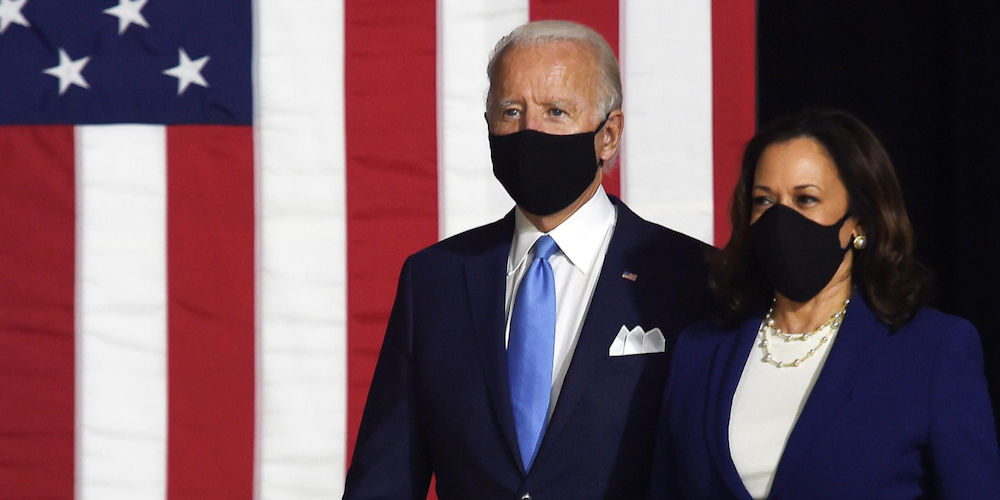 President-elect Joe Biden and Vice President-elect Kamala Harris during a campaign event in July. (Shutterstock image)