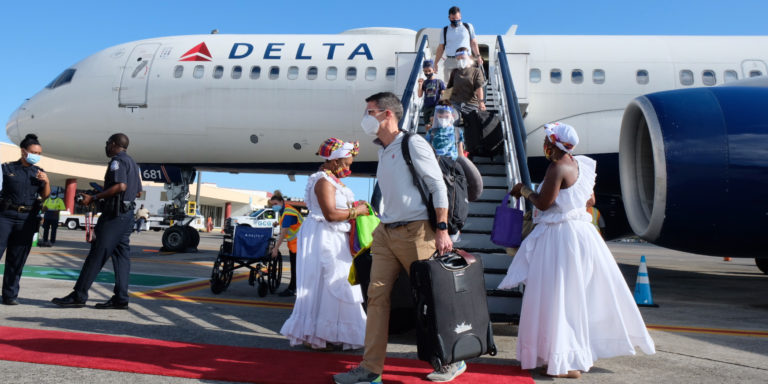 STT Welcomes Delta Airlines Inaugural Direct Flight From Minneapolis