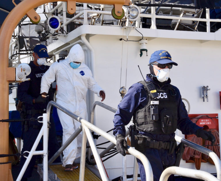 Coast Guard Seizes Cocaine, Three Suspected Smugglers, Off STX