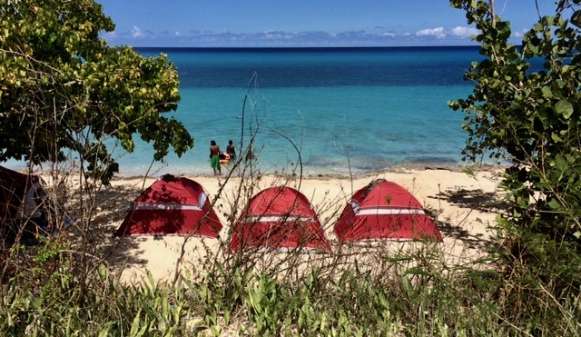 Easter camping near Frederiksted. (Anne Salafia photo)