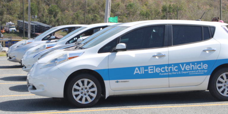 Electric Vehicle Rally Emphasizes Green Initiatives Throughout the V.I.