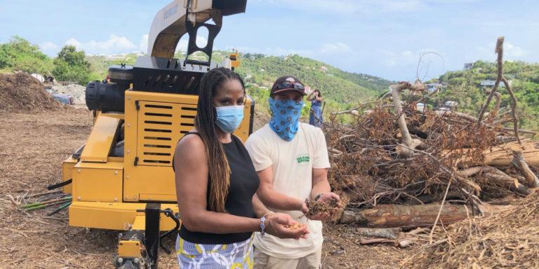 Plaskett Tours Pilot Projects to Cut Waste on STJ