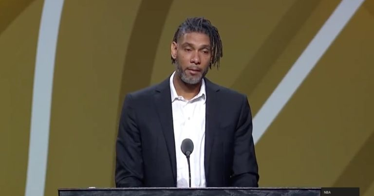 V.I.'s Tim Duncan Makes a Rare Speech a Year After Being Inducted into the NBA Hall of Fame