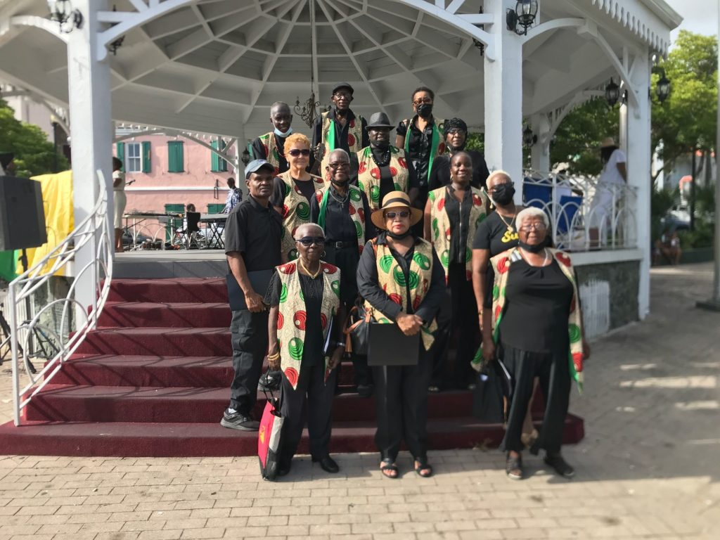 The Voices of Love choir performed pieces that spoke to African culture and tradition, along with the freedom-fighting spirit of V.I. ancestors. (Source photo by Ananta Pancham)